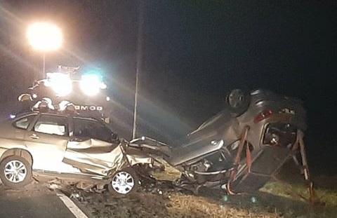 Ruta 8: Dos muertos en trágico accidente