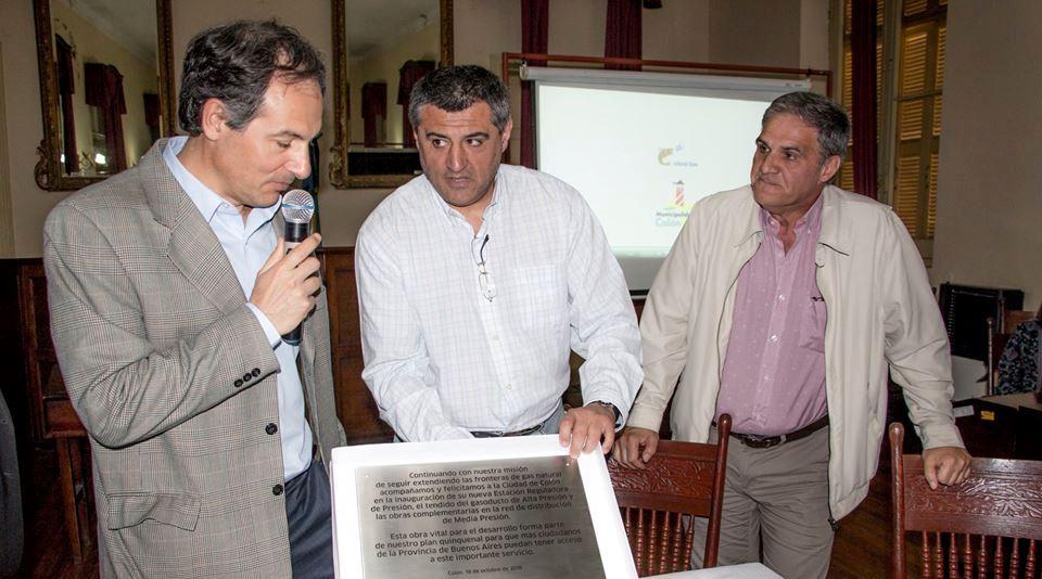 Este jueves tuvo lugar el acto de inauguración de la obra de gas natural en nuestra ciudad, en el recinto