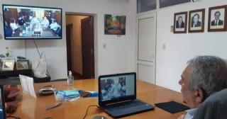 Ricardo Casi participó de una reunión virtual con el gobernador