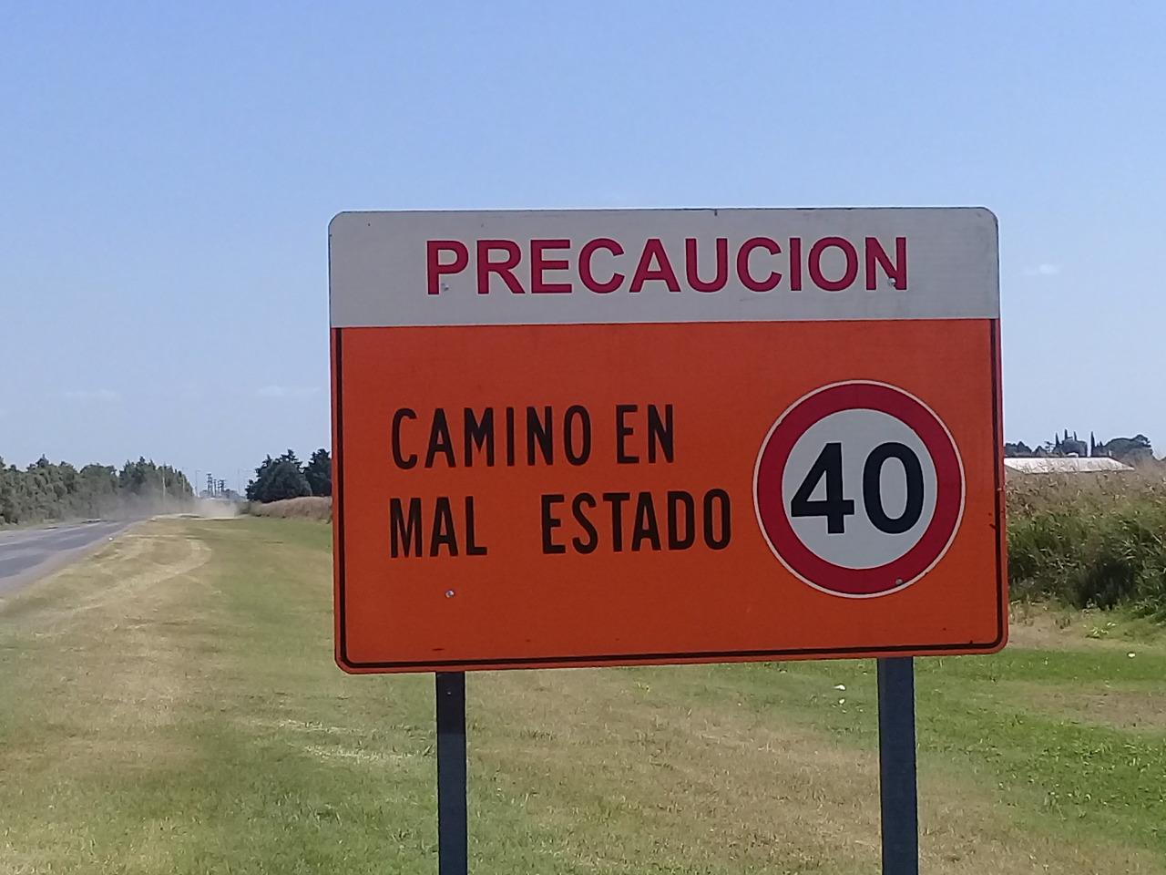 Fallo positivo para el Municipio por el mal estado de la Ruta 50