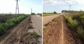 Mantenimiento de caminos rurales en Pearson