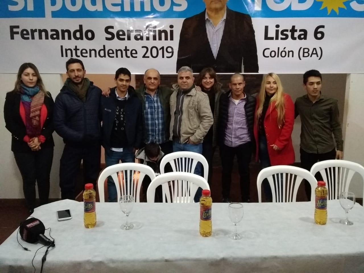Fernando Serafini fue el último de los tres precandidatos del Frente de Todos de Colón en presentar su lista.