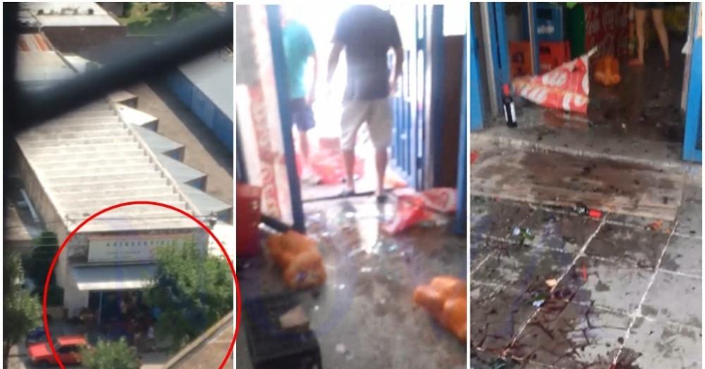 Los delincuentes se robaron una moto y los dueños se defendieron a los botellazos.