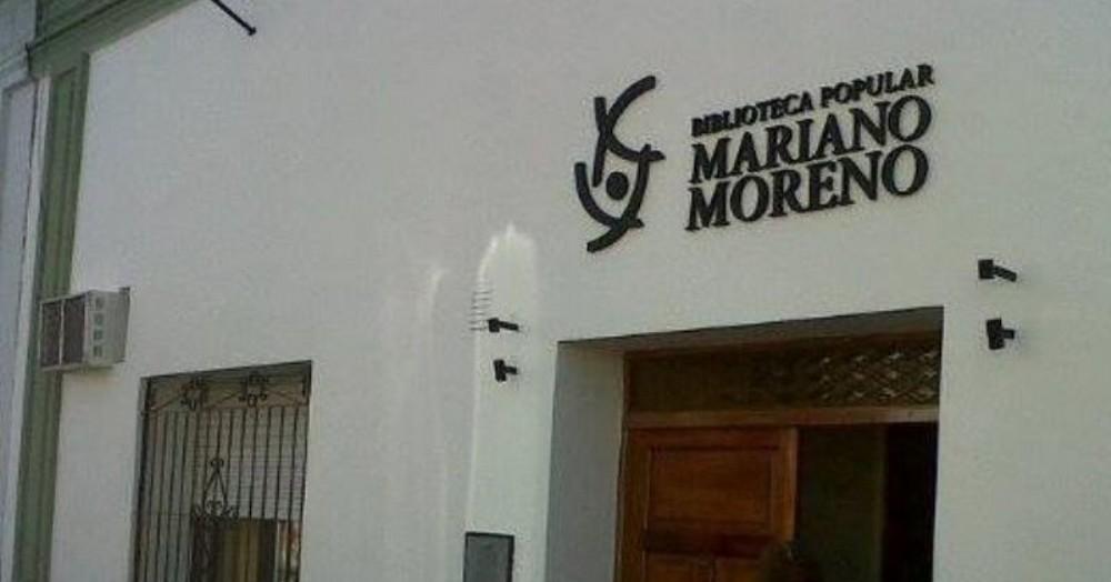 Será el viernes 1 de noviembre a las 21.30 horas en la Biblioteca Popular Mariano Moreno, con entrada a la gorra.