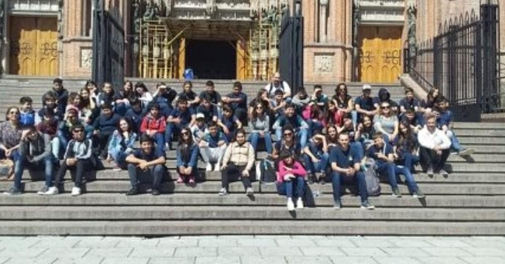 Foto grupal en la Catedral.