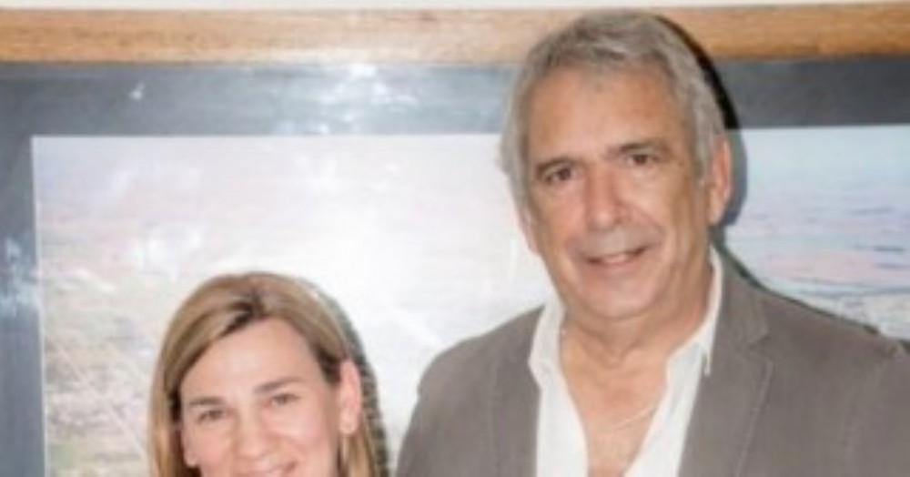 Ricardo Casi junto a la mamá de Valentino Papa.