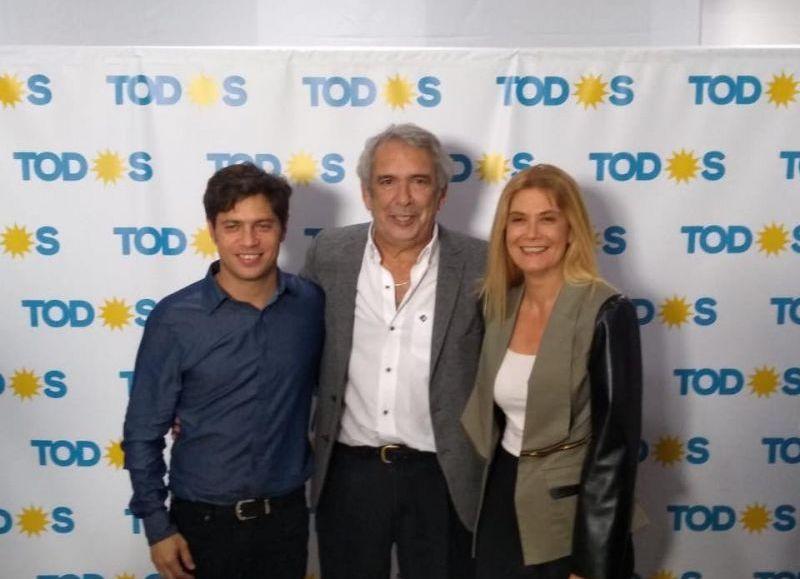 Axel Kicillof, Ricardo Casi y Verónica Magario.