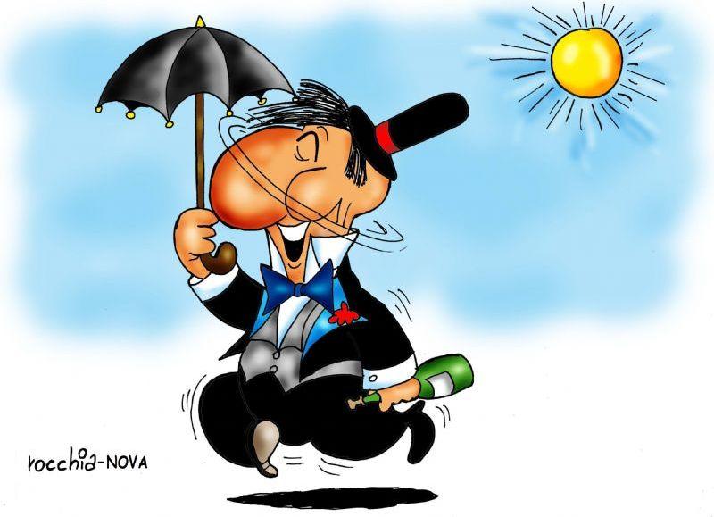 Don Abstemio. (Dibujo: Rocchia)