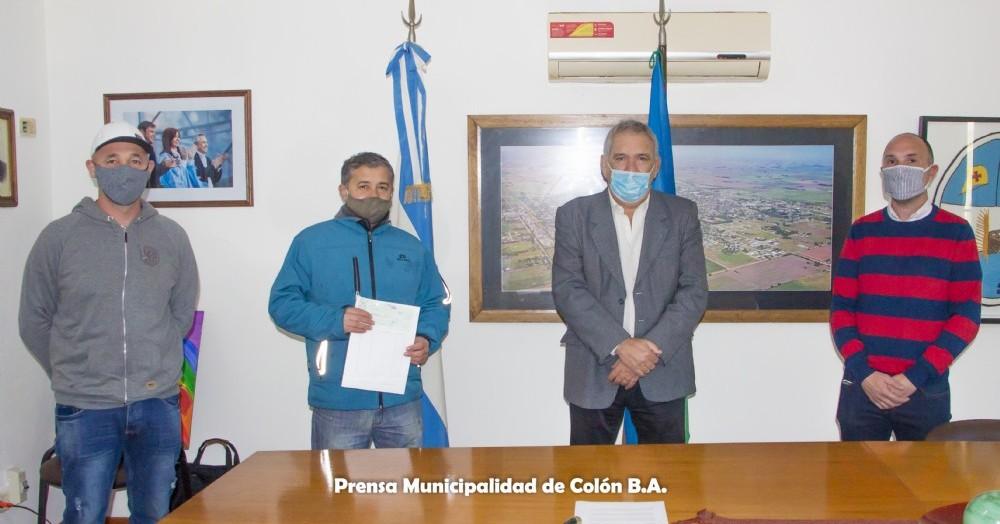 La institución estuvo representada por algunos de sus dirigentes, entre ellos el presidente Raúl Harismendy.