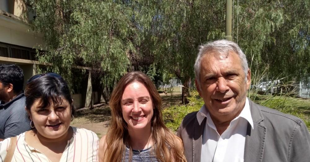 Cecilia Menéndez, María Agustina Vila y Ricardo Casi.