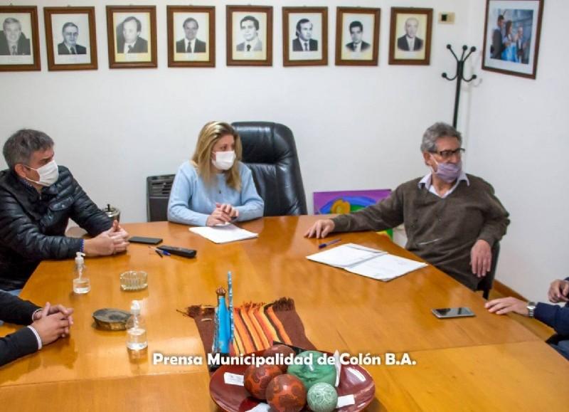 Marcelo Villarreal, director de Despliegue Territorial de la Agencia Nacional de Discapacidad fue recibido por el secretario de Gobierno, Mauricio Coliqueo; el director de Gobierno, Gonzalo Villalonga.