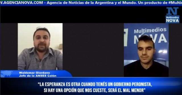 """Waldemar Giordano: """"La esperanza es otra cuando tenés un gobierno peronista"""""""