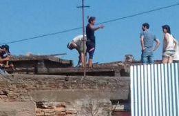 Militantes de Unidad Ciudadana trabajaron en reconstrucción de viviendas