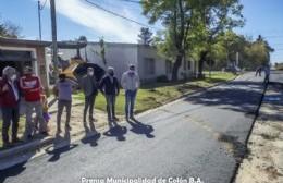 Comienzan los trabajos de pavimentación en el barrio Mangrullo