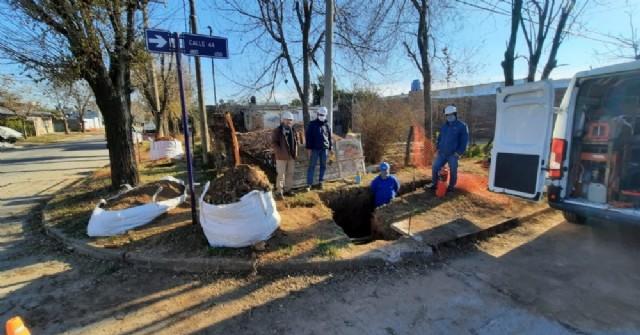 Avanzan las obras de gas en barrio Centenario