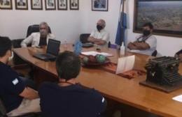 Reunión entre la Municipalidad y los Bomberos Voluntarios