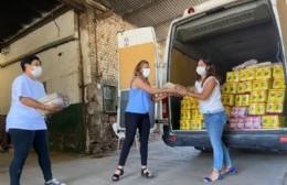 Se realizó una donación de productos alimenticios