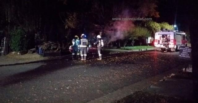 Se incendió un auto en Barrio Belgrano