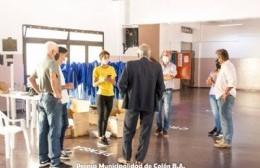 Ricardo Casi recorrió las instalaciones donde comenzará el operativo de vacunación