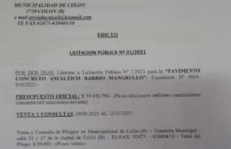 La licitación pública se entabla con un presupuesto oficial de 19.450.790 de pesos.