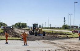 Repavimentación de rotonda Rutas 8 y 50