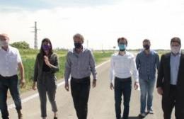 Tramo Fontezuela-Pergamino: Katopodis supervisó los avances de la Ruta 8